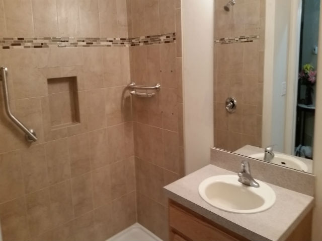 The Basic Bathroom Co. - remodeled full bathroom with shower - complete - Piscataway, NJ - May 2015