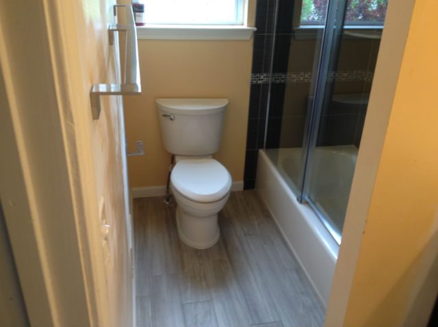 The Basic Bathroom Co. - remodeled full bathroom with bathtub-shower - complete - Howell, NJ - May 2015