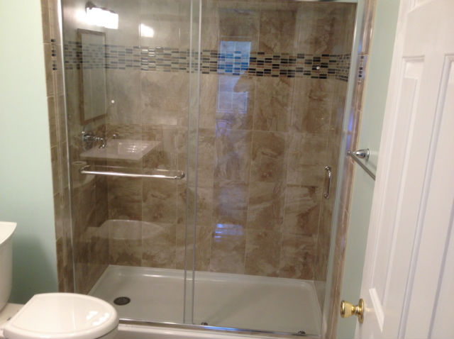 The Basic Bathroom Co. - remodeled full bathroom with shower - complete - Somerset, NJ - June 2015
