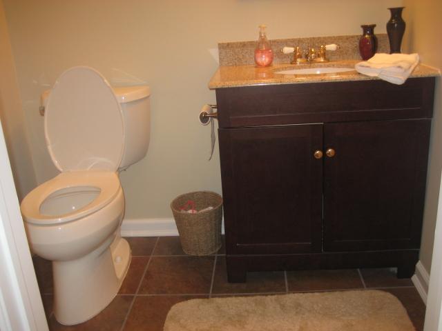The Basic Bathroom Co. - remodeled half bathroom - NJ - September 2012