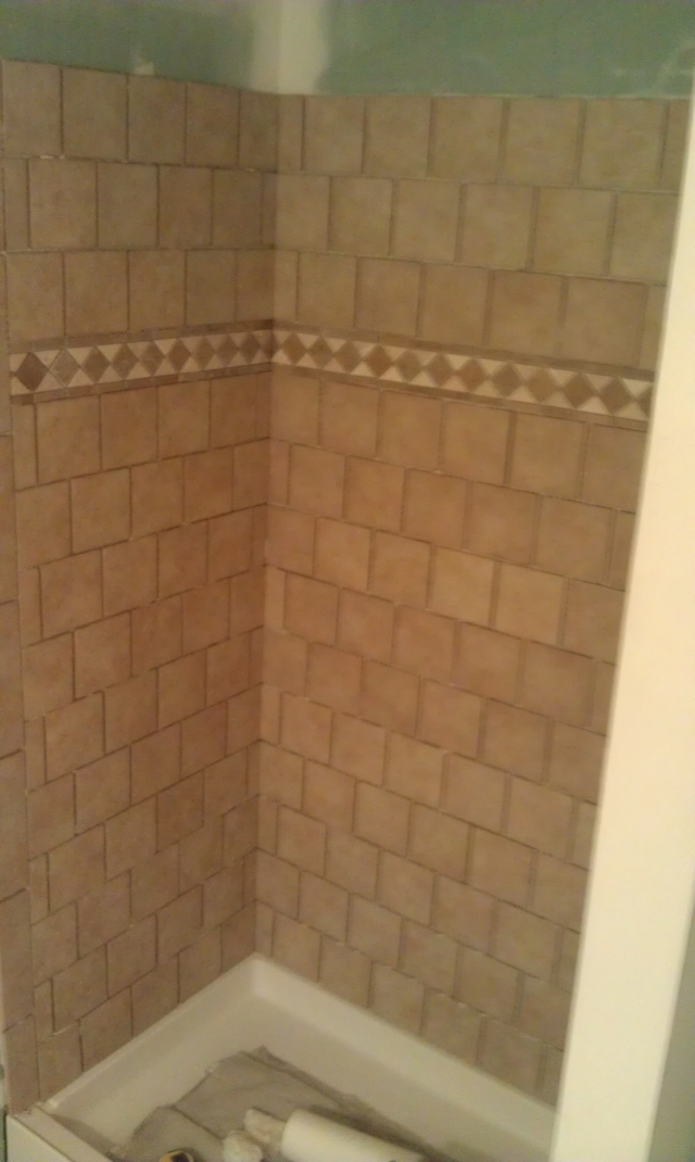 The Basic Bathroom Co. - remodeled full bathroom with shower - NJ - January 2013