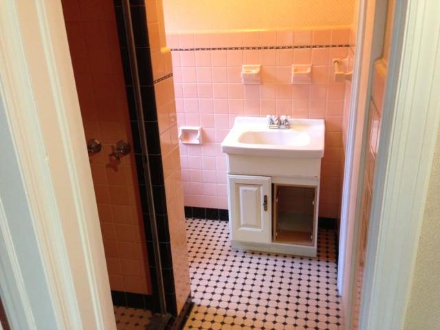 The Basic Bathroom Co. - remodeled full bathroom with bathtub-shower - before - West Orange, NJ - March 2013
