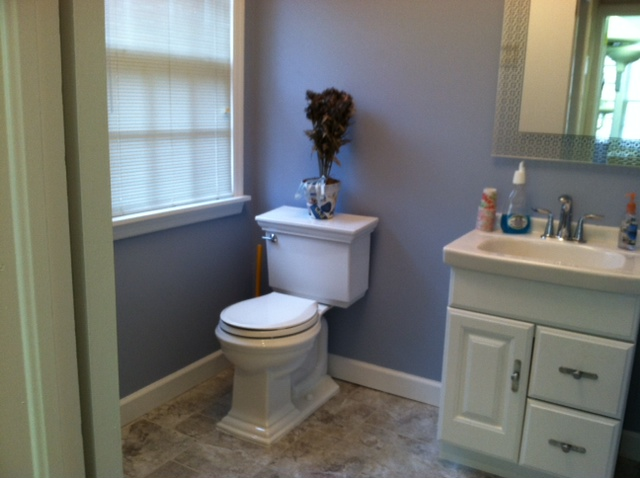 The Basic Bathroom Co. - remodeled full bathroom with bathtub-shower - complete - West Orange, NJ - March 2013