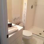 The Basic Bathroom Co. - remodeled full bathroom with shower enclosure - before - October 2013