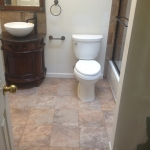 The Basic Bathroom Co. - remodeled full bathroom with bathtub-shower combination - complete - October 2013