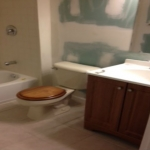The Basic Bathroom Co. - remodeled full bathroom with bathtub-shower combination - in progress - December 2013