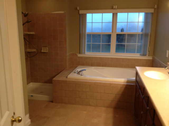 The Basic Bathroom Co. - remodeled full bathroom with soaking tub and shower enclosure - complete - January 2014