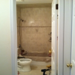 The Basic Bathroom Co. - remodeled full bathroom with bathtub-shower combination - in progress - January 2014