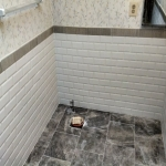 The Basic Bathroom Co. - remodeled full bathroom with bathtub-shower combination - in progress - March 2014