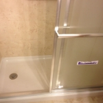The Basic Bathroom Co. - remodeled full bathroom with shower enclosure - in progress - March 2014