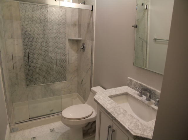 The Basic Bathroom Co. - remodeled full bathroom with shower enclosure - complete - January 2014