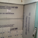The Basic Bathroom Co. - remodeled full bathroom with bathtub-shower combination - in progress - April 2014