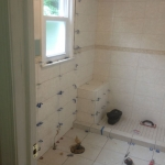 The Basic Bathroom Co. - remodeled full bathroom with bathtub-shower combination - in progress - June 2014