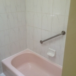 The Basic Bathroom Co. - remodeled full bathroom with bathtub-shower combination - before - July 2014