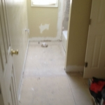 The Basic Bathroom Co. - remodeled full bathroom with bathtub-shower combination - in progress - July 2014