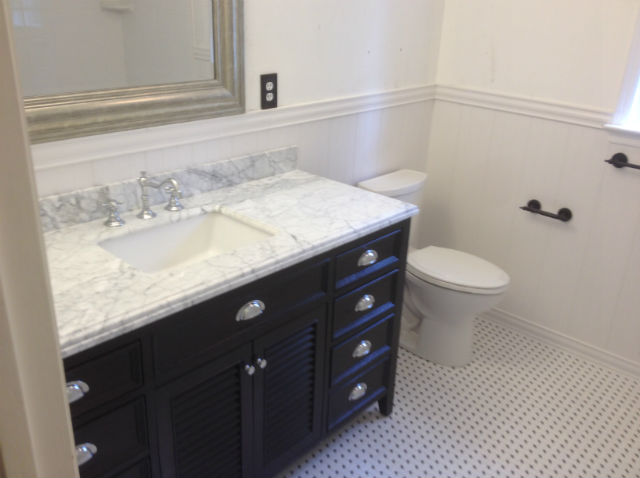 The Basic Bathroom Co.   Remodeled Full Bathroom With Bathtub Shower  Combination   Complete