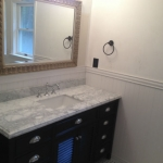 The Basic Bathroom Co. - remodeled full bathroom with bathtub and shower enclosure - complete - August 2014