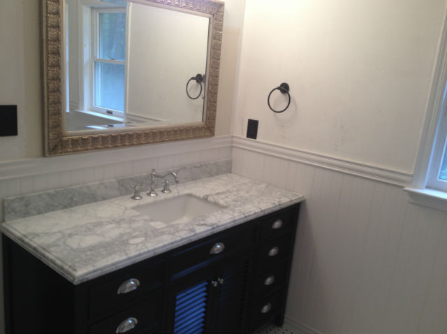 The Basic Bathroom Co.   Remodeled Full Bathroom With Bathtub And Shower  Enclosure   Complete