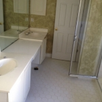 The Basic Bathroom Co. - remodeled full bathroom with soaking tub and shower - before - September 2014