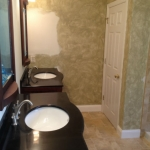 The Basic Bathroom Co. - remodeled full bathroom with soaking tub and shower - in progress - September 2014