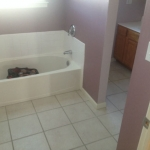 The Basic Bathroom Co. - remodeled full bathroom with bathtub and shower - before - September 2014