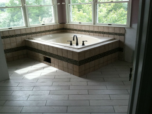 The Basic Bathroom Co.   Remodeled Full Bathroom With Soaking Tub And  Shower   In