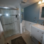 The Basic Bathroom Co. - remodeled full bathroom with shower - complete - October 2014