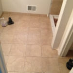The Basic Bathroom Co. - remodeled full bathroom with shower - in progress - October 2014