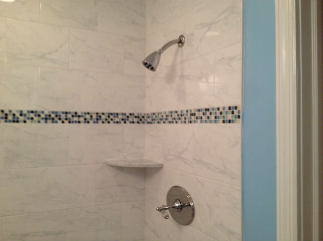 The Basic Bathroom Co. - remodeled full bathroom with shower - complete - November 2014