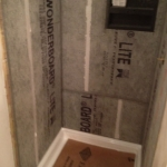 The Basic Bathroom Co. - remodeled full bathroom with shower and soaking tub - in progress - Somerville, NJ - December 2014