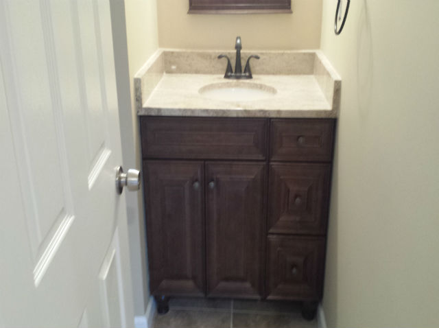 The Basic Bathroom Co. - remodeled half bathroom - complete - Morganville, NJ - November 2014