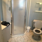 The Basic Bathroom Co. - remodeled full bathroom with shower - before - Edison, NJ - February 2015