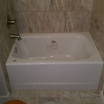The Basic Bathroom Co. - remodeled full bathroom with bathtub-shower - in progress - Frankville, NJ - March 2015