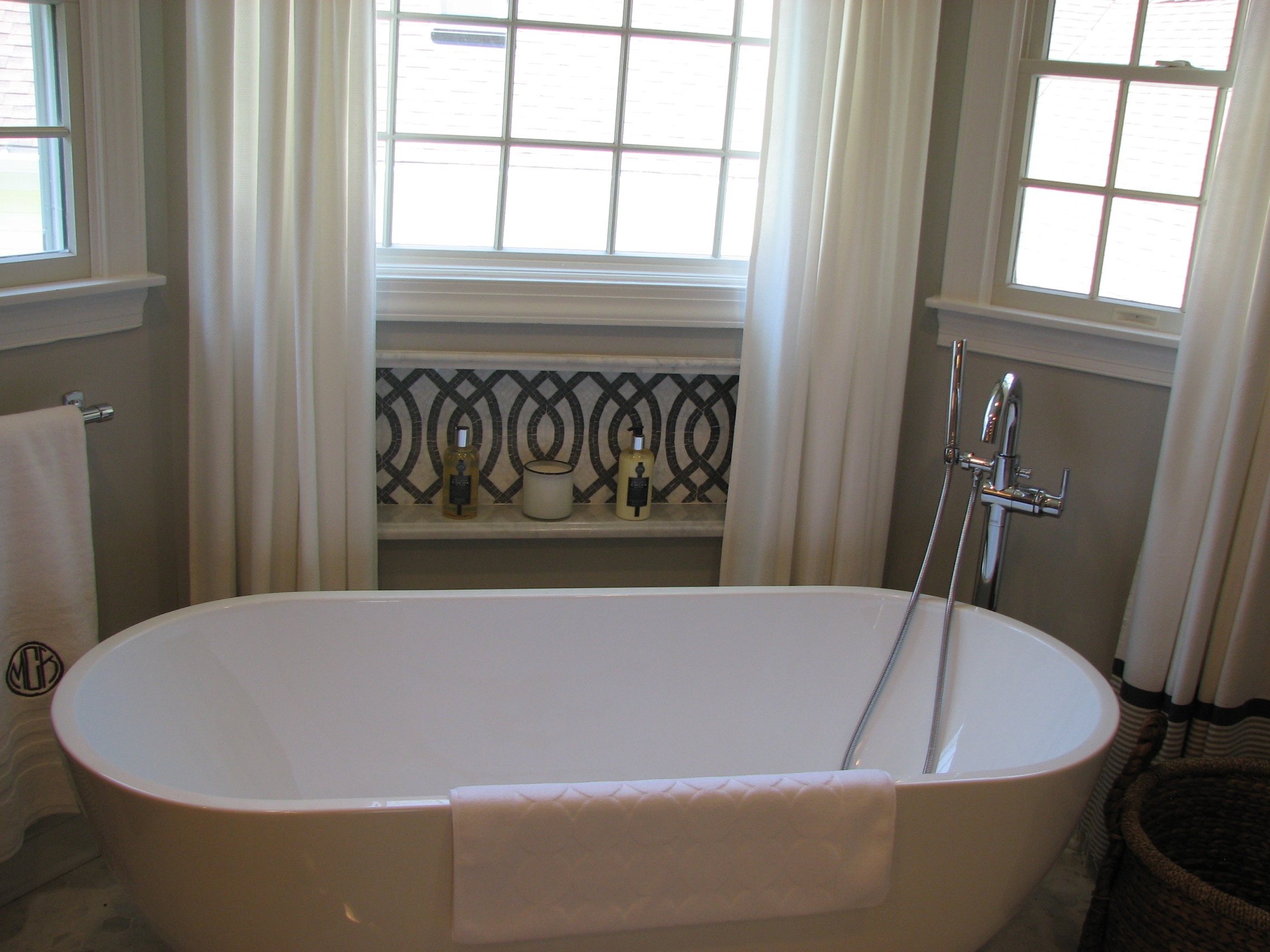 The Basic Bathroom Co. - bathroom remodel with bathtub and shower enclosure – NJ - April 2014