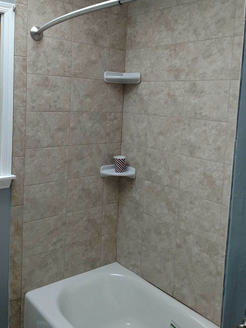 Bon The Basic Bathroom Co.   Remodeled Full Bathroom With Shower Bathtub  Combination   Complete