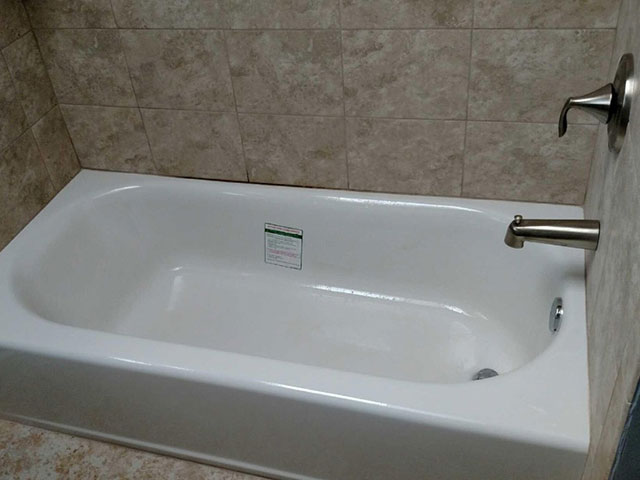 The Basic Bathroom Co.   Remodeled Full Bathroom With Shower Bathtub  Combination   Complete